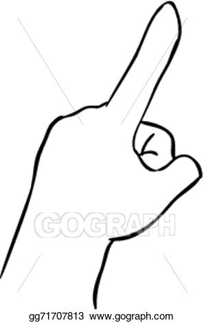 Finger clipart simple. Eps vector index pointing