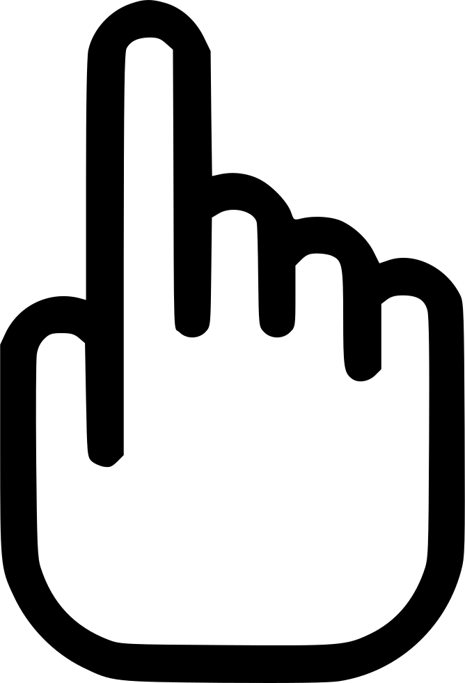 Touch screen hand index. Fingers clipart shahada
