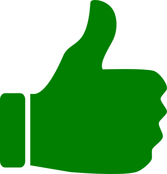 Thumb clipart large. Positive like clip art