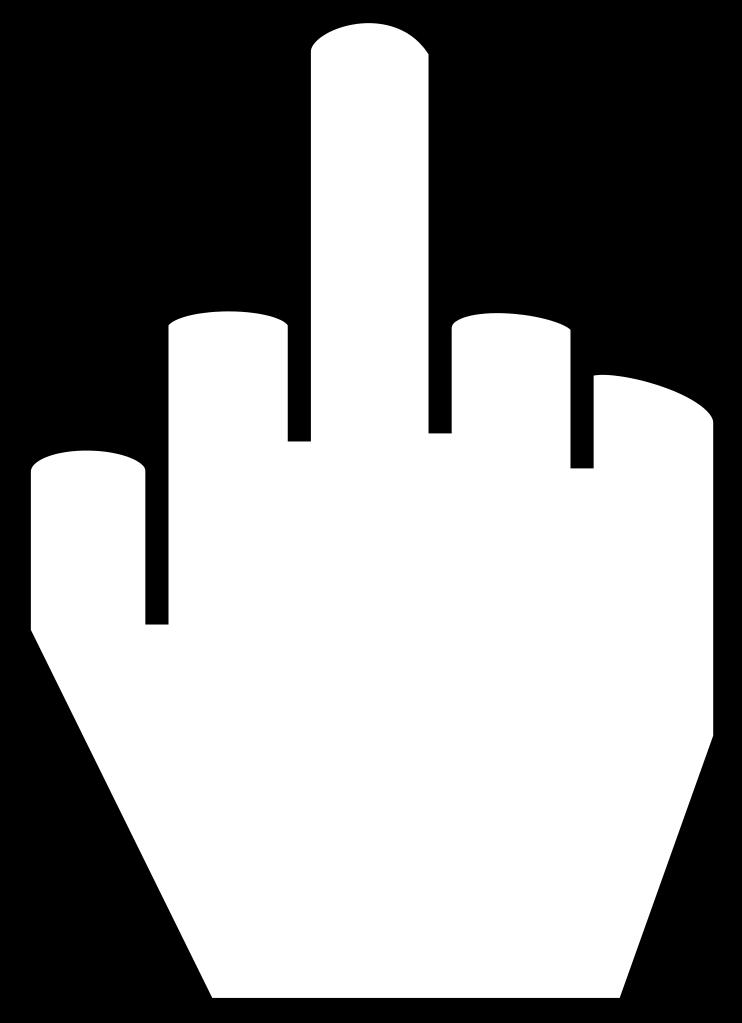Fingers clipart vintage. File the middle finger