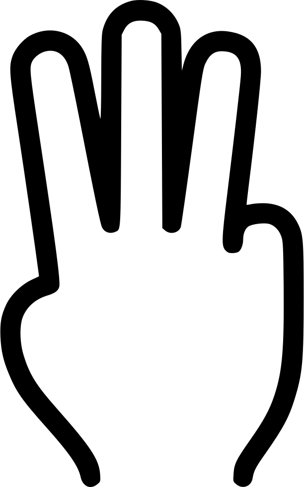 Finger clipart three finger. Fingers svg png icon