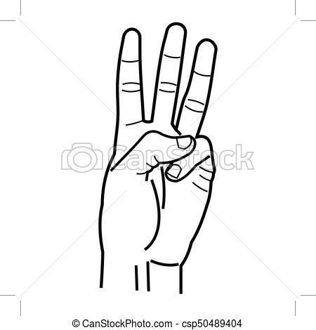 Portal . Finger clipart three finger