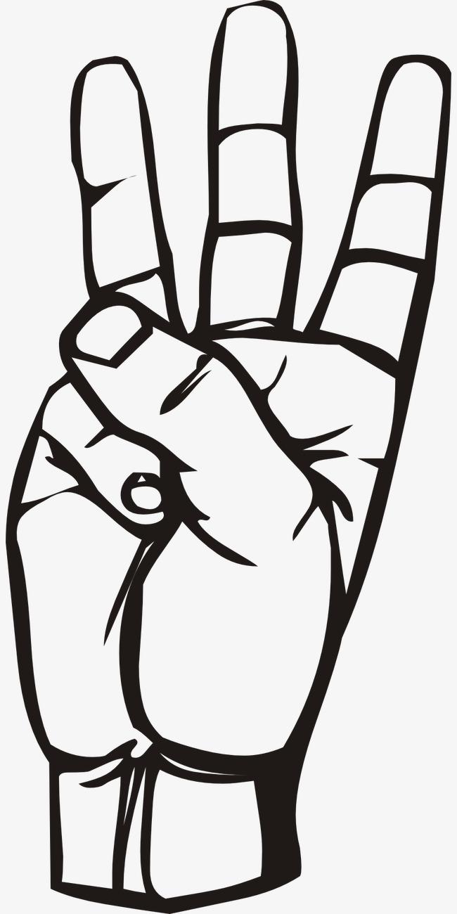 Number clip art i. Finger clipart three finger