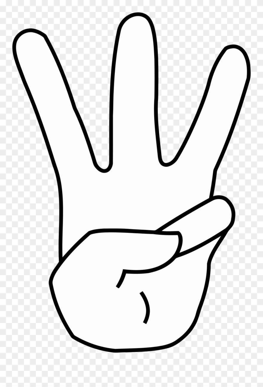 Anime fingers black and. Finger clipart three finger