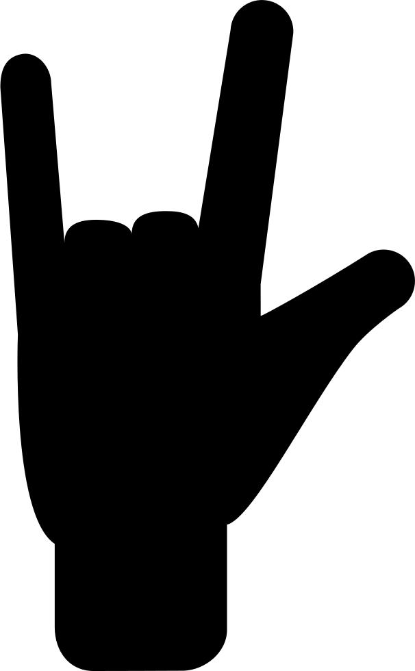 Fingers hand gesture filled. Finger clipart three finger