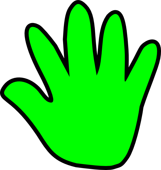 Hand clipart cartoon. Outline of a free