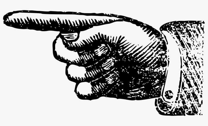 Vintage pointing finger . Steampunk clipart hand pointer