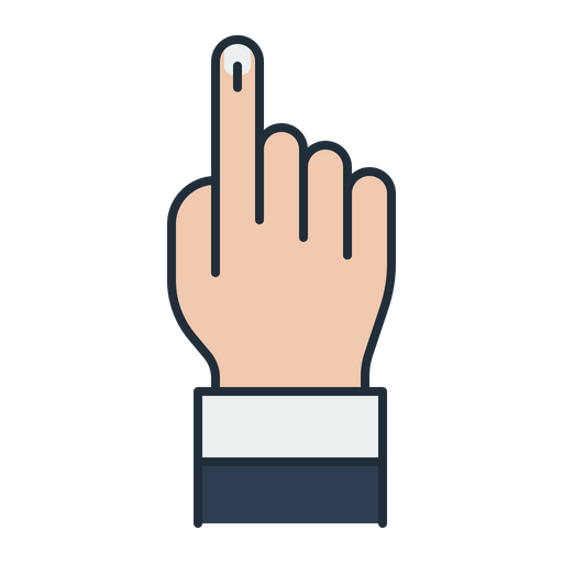 Vote sign icon of. Fingers clipart voting