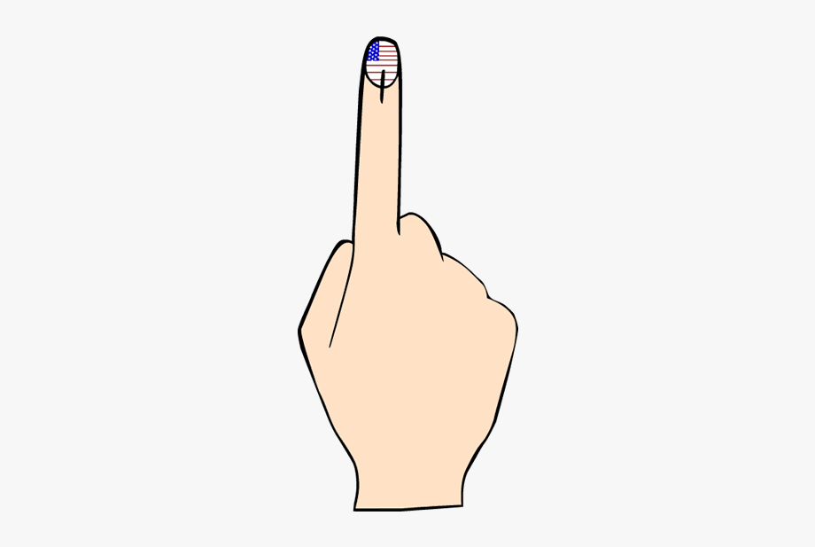 Collection of vote high. Voting clipart finger