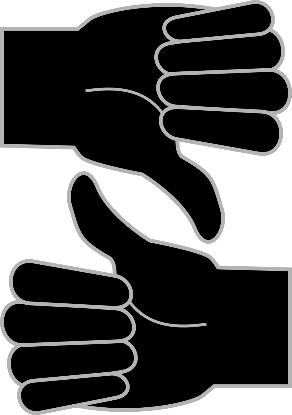 Thumb clipart white glove. Public domain clip art