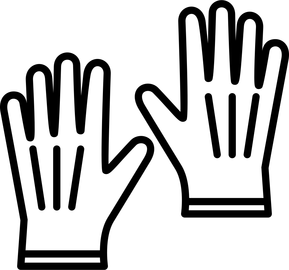 Thumb clipart white glove. Leather gloves svg png