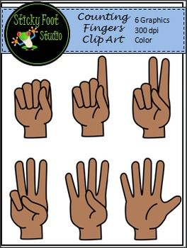 Fingers clipart 1 finger. Counting clip art freebie