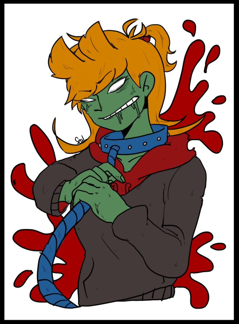 Zombie clipart finger. Eddsworld tori by guitong