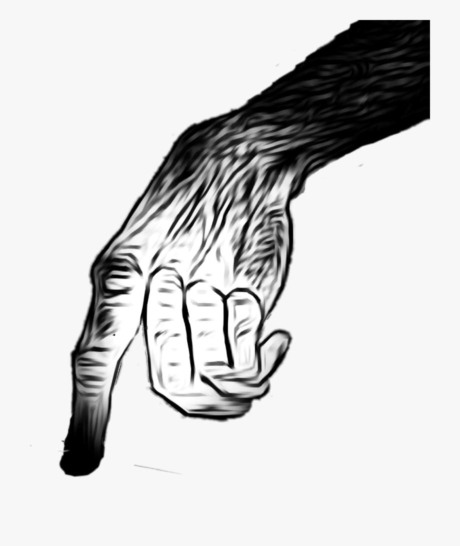 Zombie clipart finger. Ape hand scary creepy