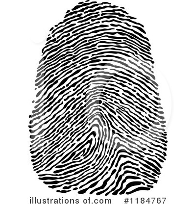 Fingerprint clipart. Illustration by vector tradition