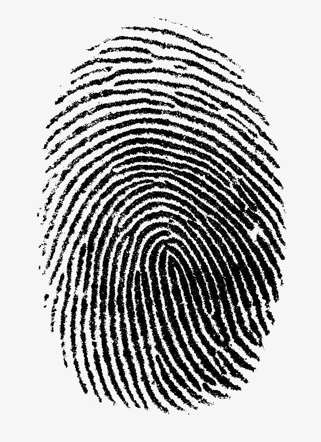Fingerprint clipart. Black png image and