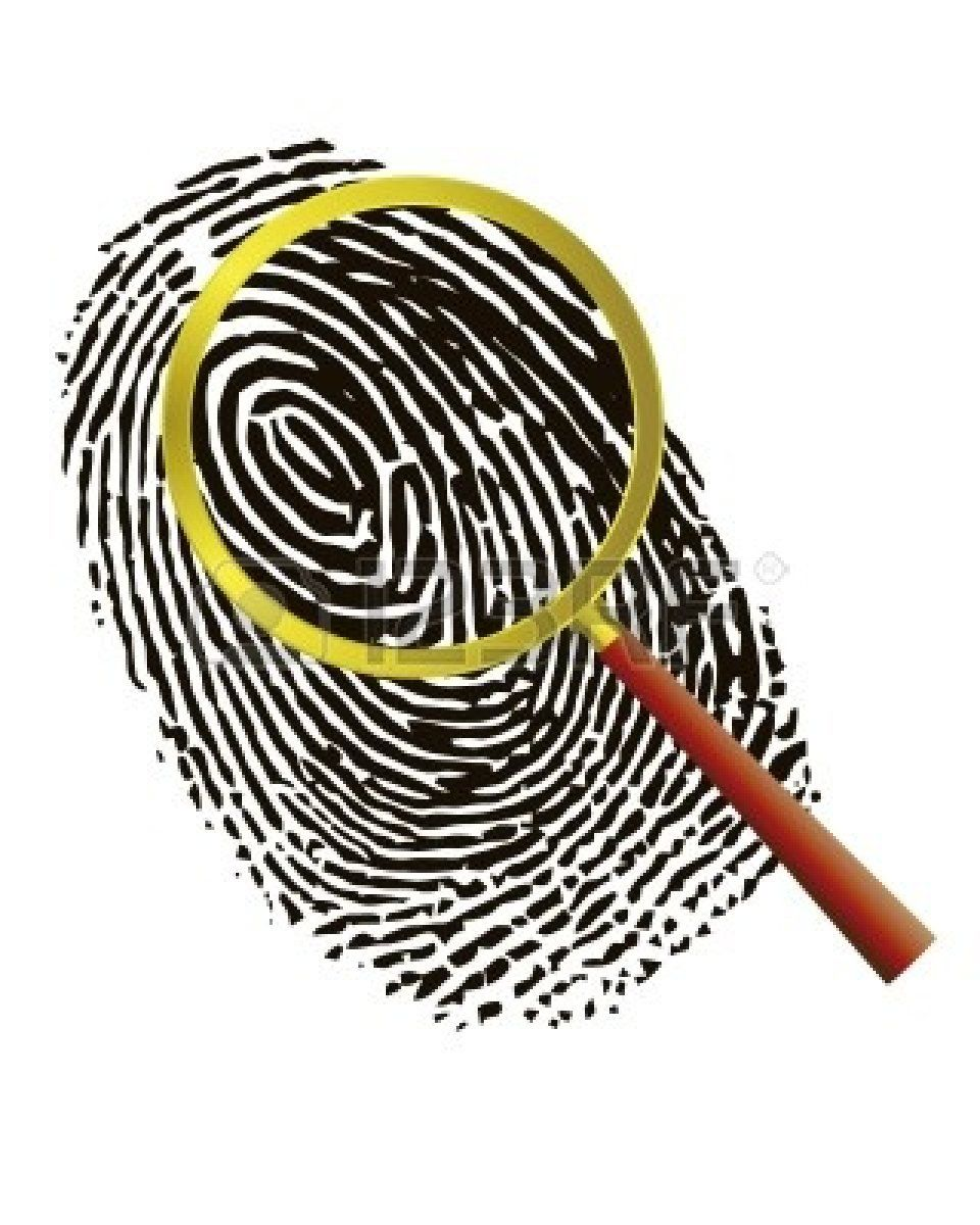 Fingerprint clipart. Thumbprint clip art magnifying