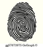 Vector art identification system. Fingerprint clipart artistic