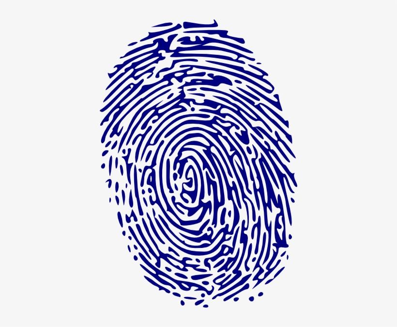 Fingerprint clipart blue. Png clip art image