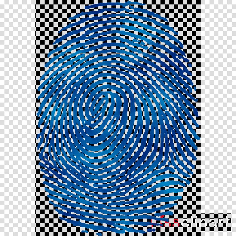 Circle illustration line . Fingerprint clipart blue