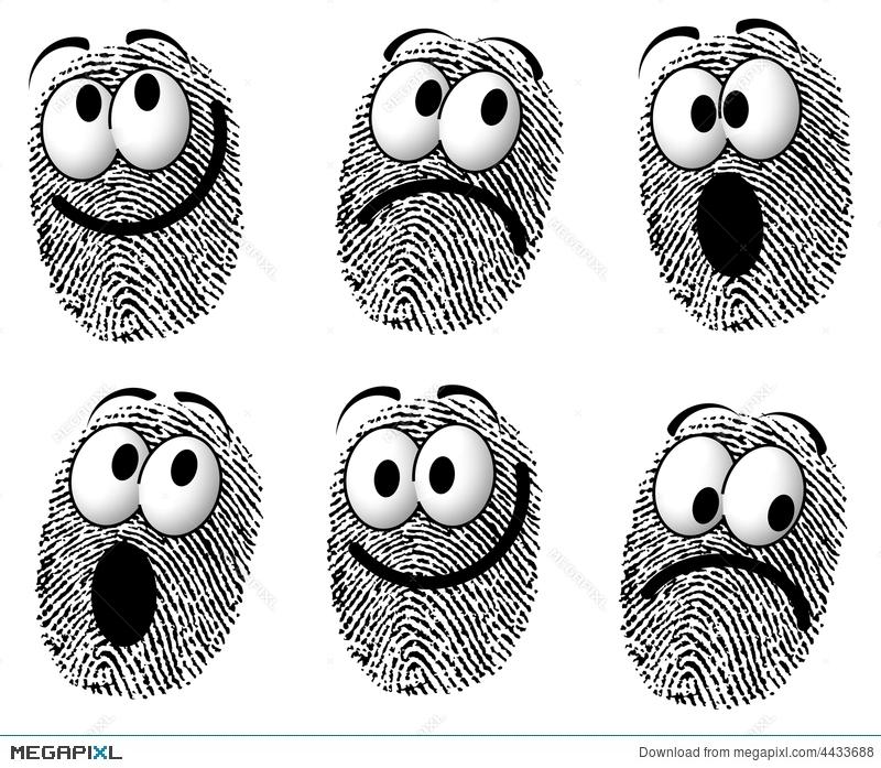 Faces illustration megapixl . Fingerprint clipart cartoon