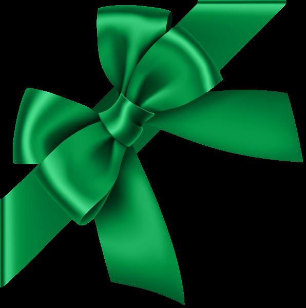 Green bow transparent clip. Food clipart corner