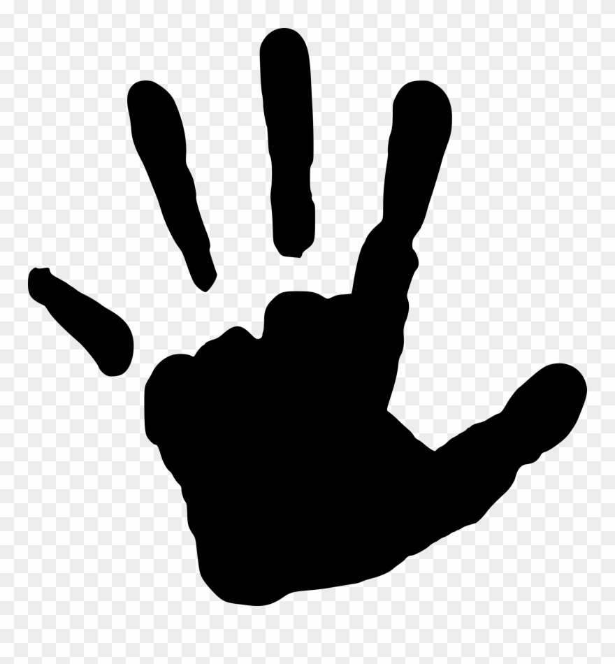 Handprint clipart finger. Fingerprint hand clip art