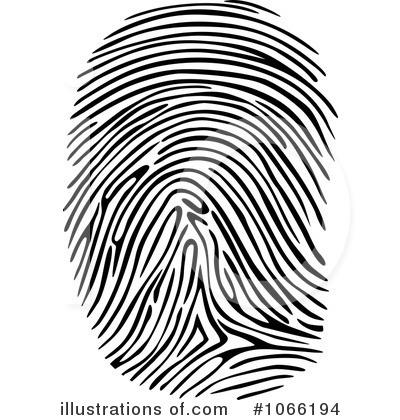 Fingerprint clipart imprint. Illustration by vector