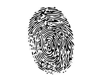 Fingerprint clipart imprint. Etsy