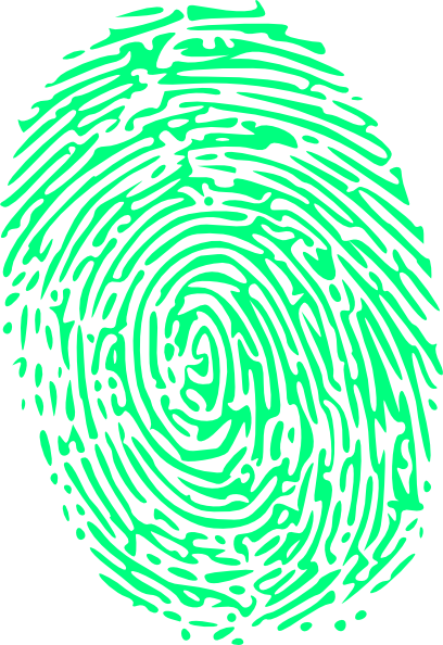 Green clip art at. Fingerprint clipart large