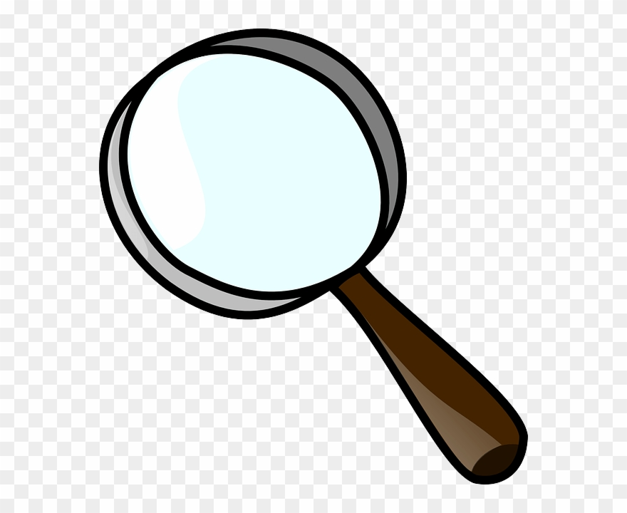 Fingerprint clipart magnifying lens. Glass with png download
