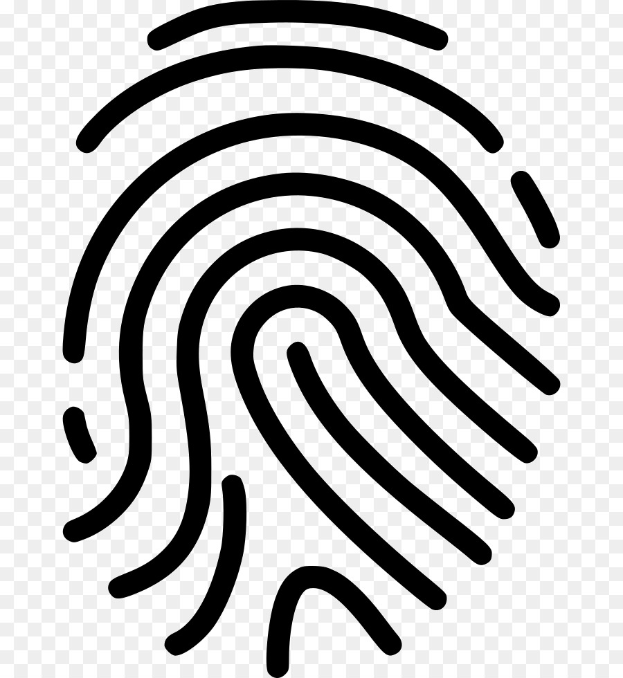 Fingerprint clipart real. White circle information data