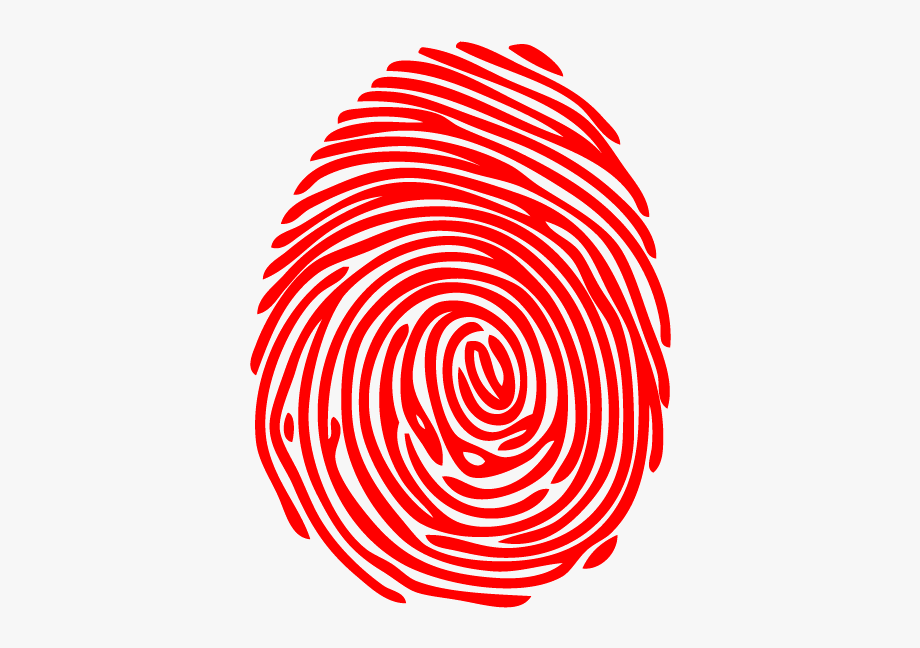 Fingerprint clipart red. Png download image with
