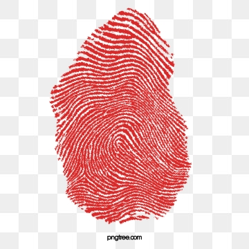 Fingerprints png vector psd. Fingerprint clipart red