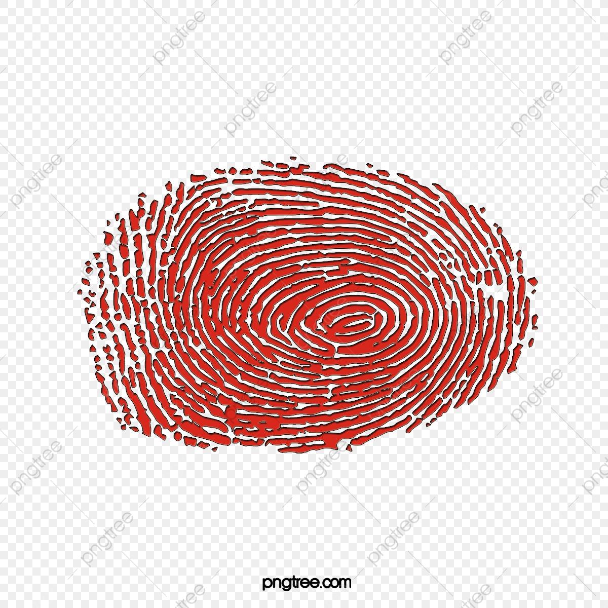 Fingerprints beautiful scan the. Fingerprint clipart red