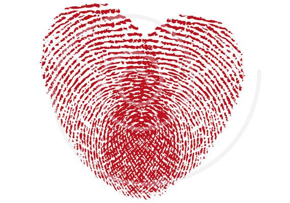 Fingerprint clipart red. Heart digital clip art