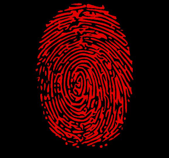 Fingerprint clipart red.