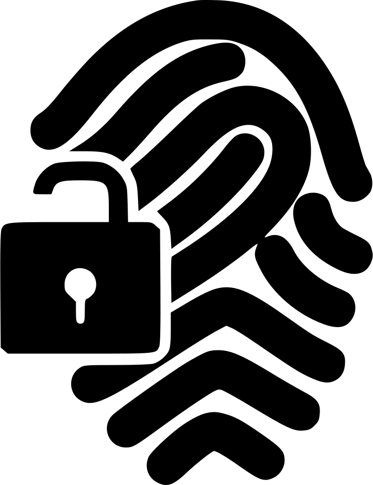 Lock svg png icon. Fingerprint clipart right thumb