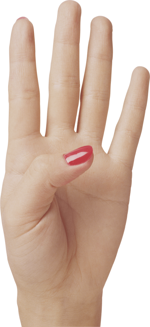 Fingers clipart 1 finger. Four hand png free