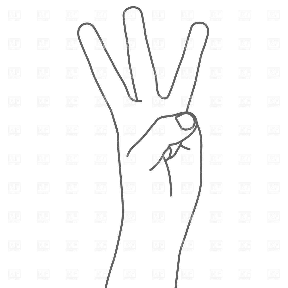 panda free images. Fingers clipart 1 finger