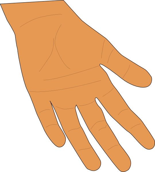 Clip art at clker. Fingers clipart brown hand