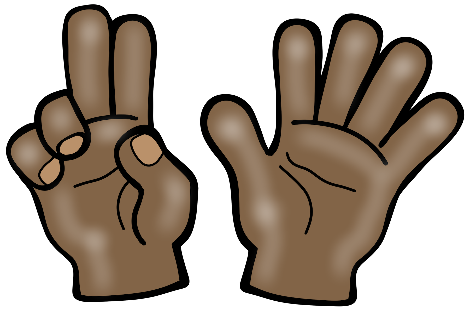 Fingers clipart brown hand. Play subitizing lesson by