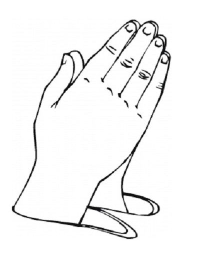 Fingers clipart coloring. Pictures of praying hands