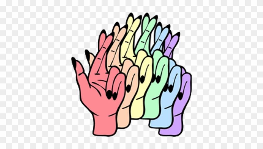 El color freetoedit kawaii. Fingers clipart cute hand