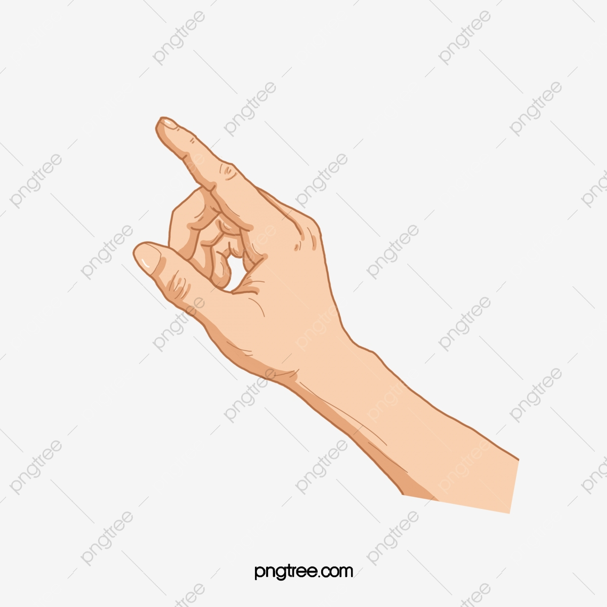 Fingers clipart fan finger. Pointing hand action gesture