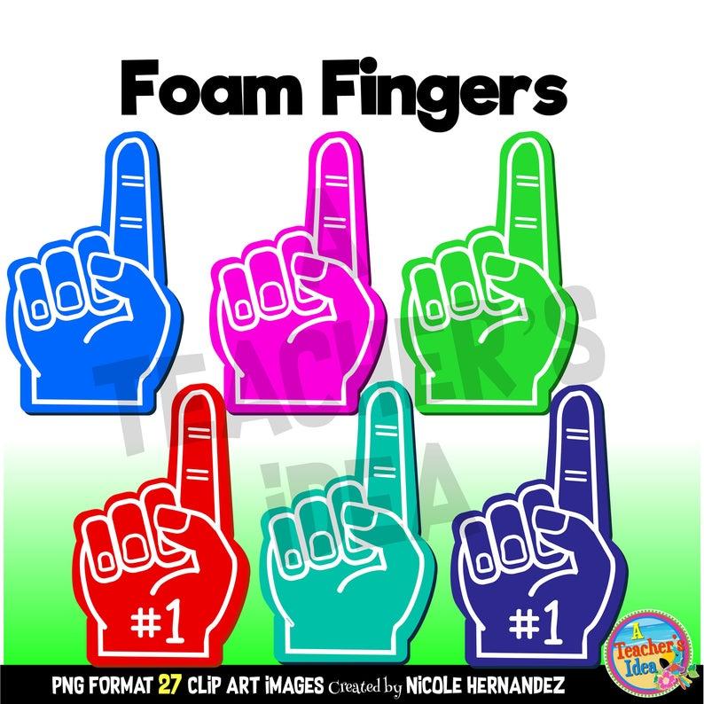 Foam commercial use digital. Fingers clipart fan finger