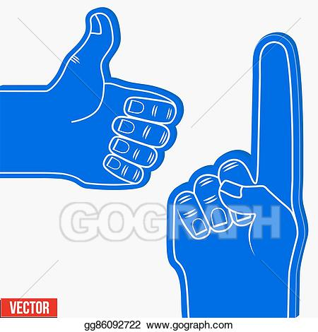 Eps vector set of. Fingers clipart fan finger
