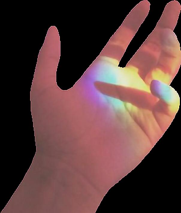 Hand rainbow sunlight sunshine. Fingers clipart finger press
