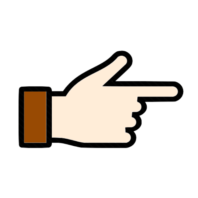 Fingers clipart first finger. Next icon left right