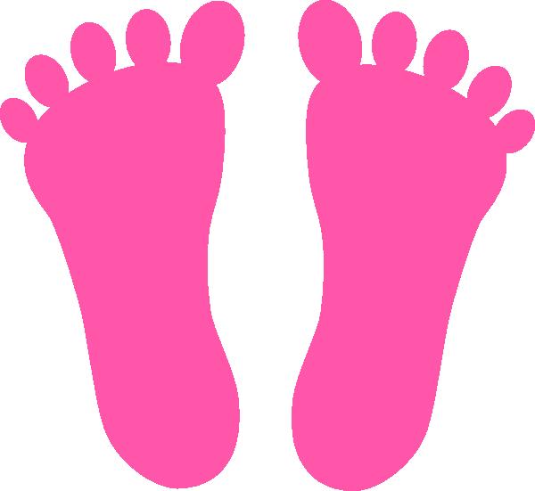 Pink footprints clip art. Footprint clipart family